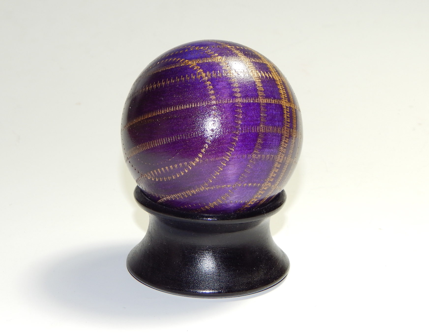 Dick Gerard - Textured Purple Sphere